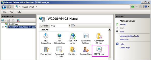 Enable SMTP in Windows 2008 2012 Server